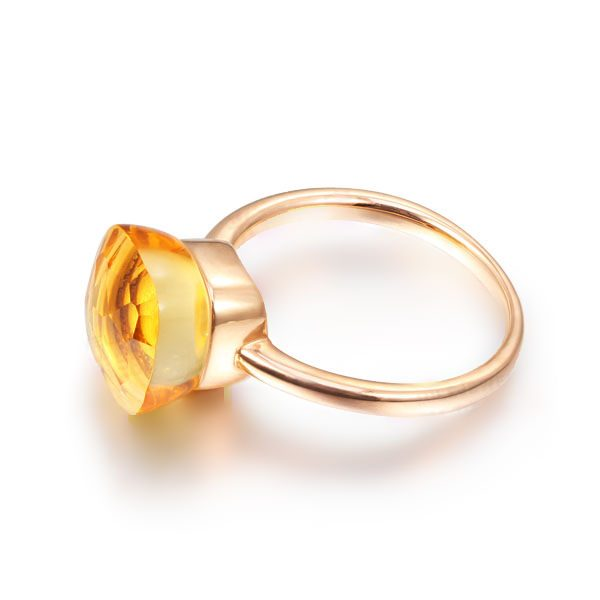 5.65ct Natural Yellow Citrine in 18K Gold Ring