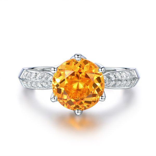 3.56ct Natural Yellow Citrine in 18K Gold Ring