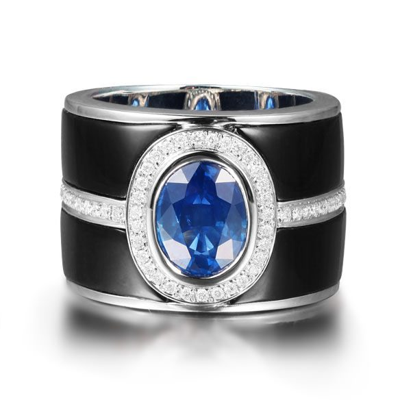 4.86ct Natural Blue Sapphire in 18K Gold Ring