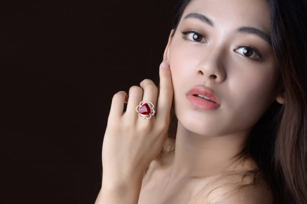 8.05ct Natural Red Tourmaline in 18K Gold Ring