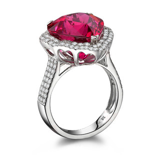 9.12ct Natural Red Tourmaline in 18K Gold Ring