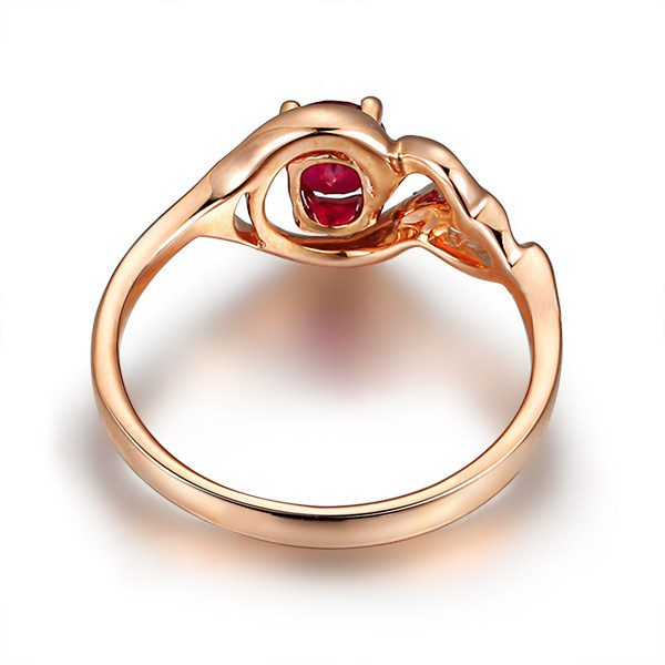 ct Natural Red Ruby in 18K Gold Ring