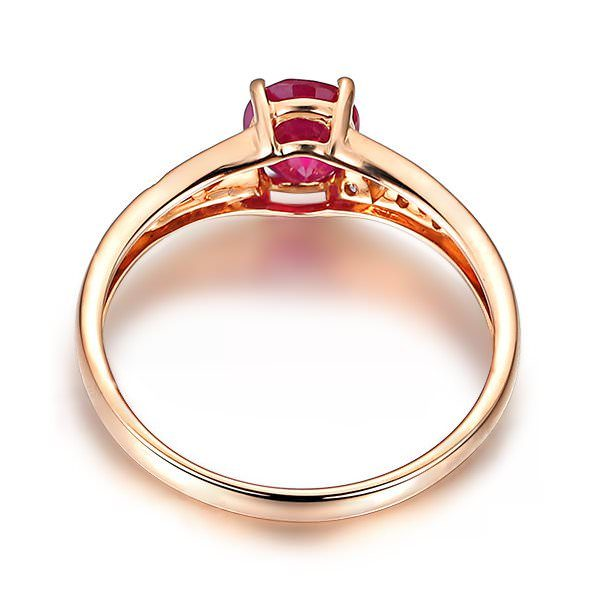 0.55ct Natural Red Ruby in 18K Gold Ring