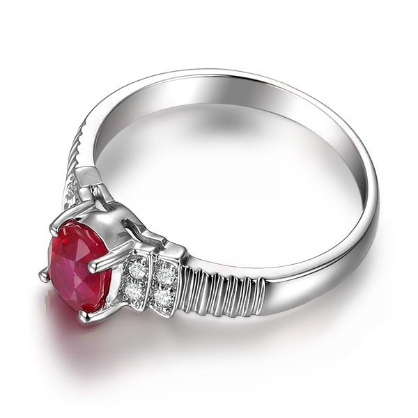 1.02ct Natural Red Ruby in 18K Gold Ring