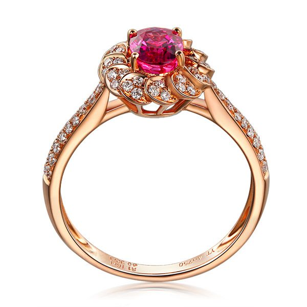 1.16ct Natural Red Ruby in 18K Gold Ring