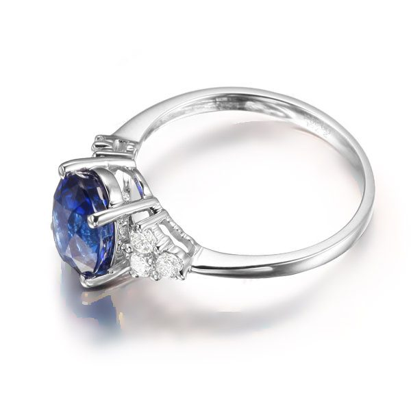 2.05ct Natural Blue Sapphire in 18K Gold Ring
