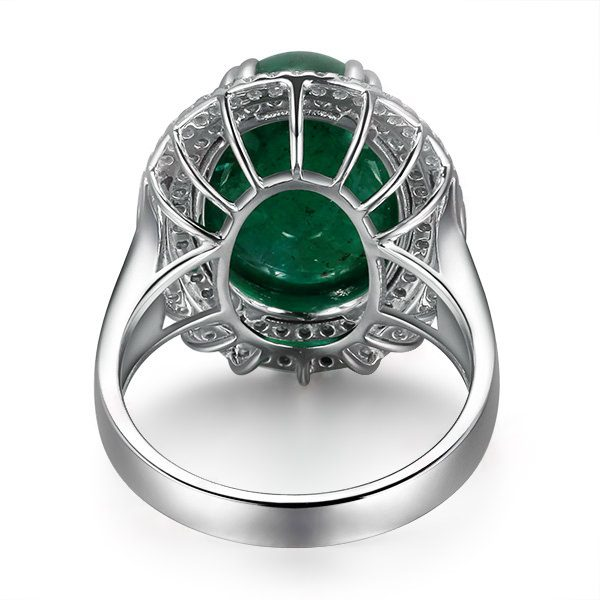 8.5ct Natural Green Emerald in 18K Gold Ring