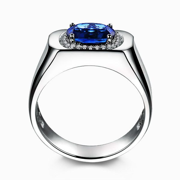 2.03ct Natural Blue Sapphire in 18K Gold Ring