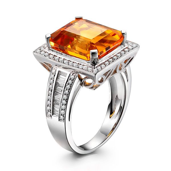 6.56ct Natural Yellow Citrine in 18K Gold Ring