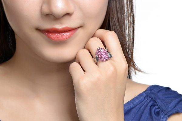 2.55ct Natural Red Ruby in 18K Gold Ring
