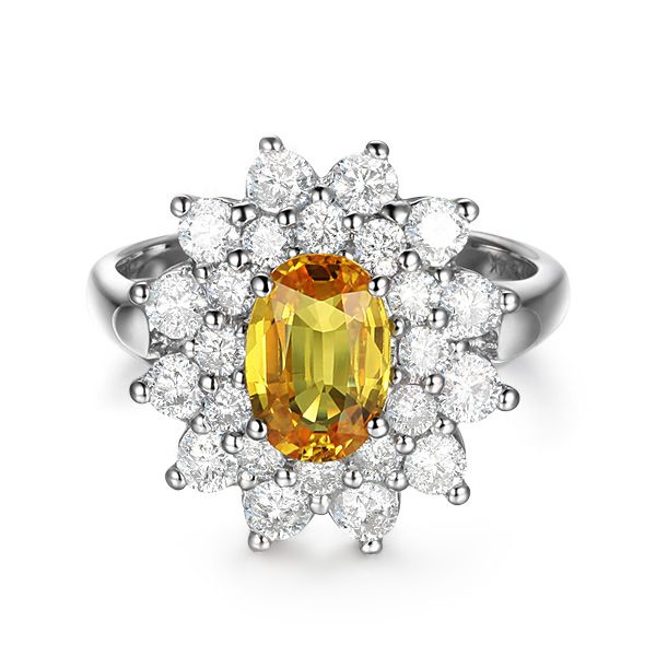 2.39ct Natural Yellow Sapphire in 18K Gold Ring