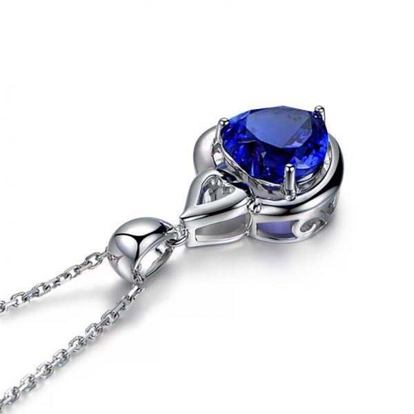 4.85ct Natural Blue Tanzanite in 18K Gold Pendant