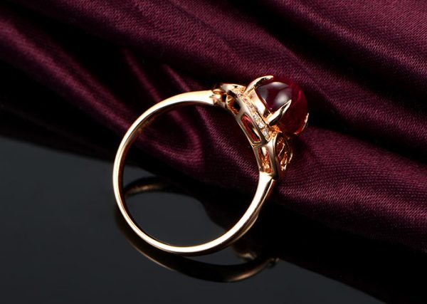 3.12ct Natural Red Tourmaline in 18K Gold Ring