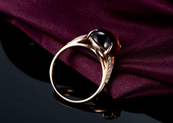 5.37ct Natural Red Tourmaline in 18K Gold Ring