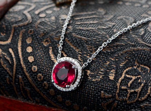 2.32ct Natural Red Tourmaline in 18K Gold Pendant
