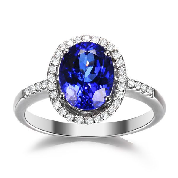 2.35ct Natural Blue Tanzanite in 18K Gold Ring