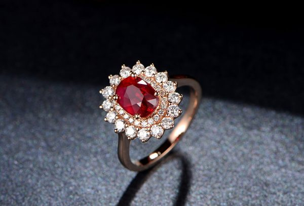 2.03ct Natural Red Ruby in 18K Gold Ring