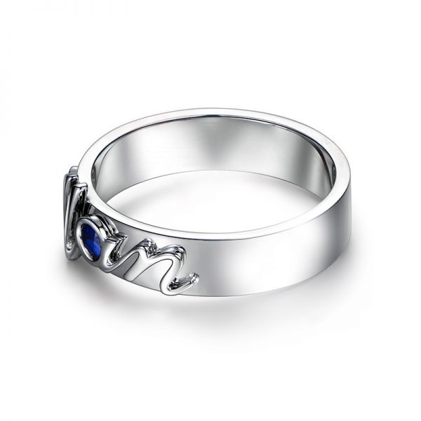 0.1ct Natural Blue Sapphire in 18K Gold Ring
