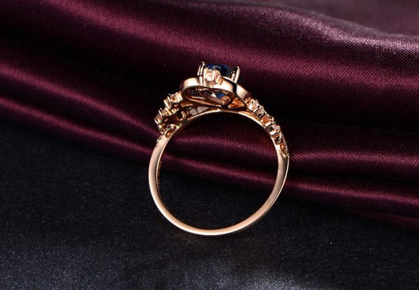 1.45ct Natural Blue Sapphire in 18K Gold Ring