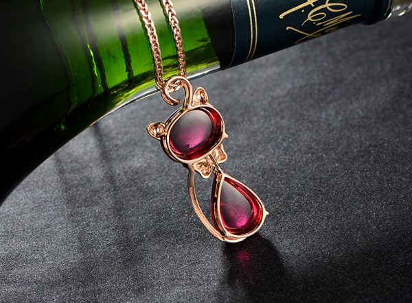 15.6ct Natural Red Tourmaline in 18K Gold Pendant