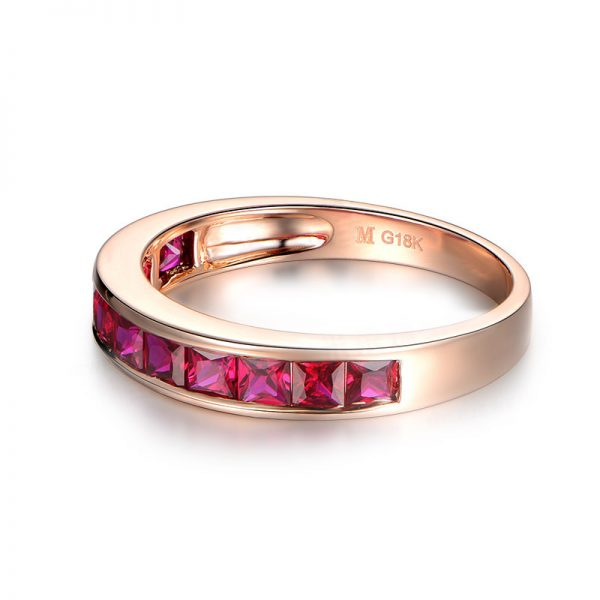 1.42ct Natural Red Ruby in 18K Gold Ring