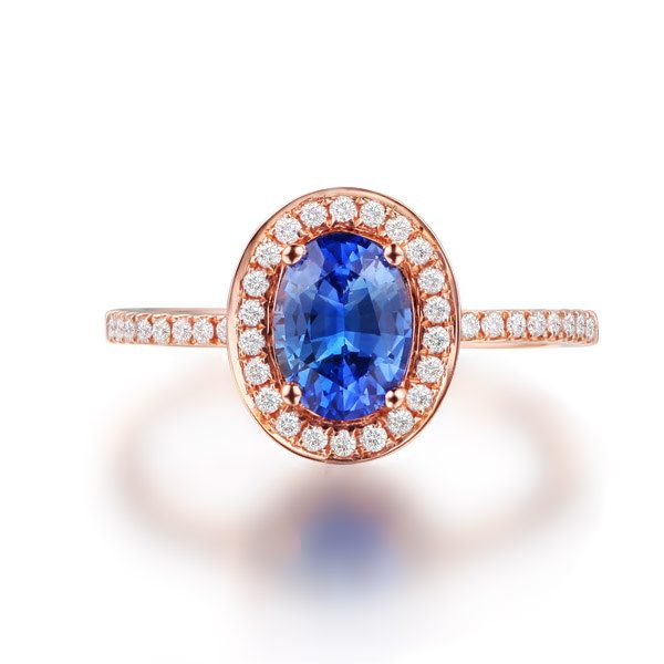 1.36ct Natural Blue Sapphire in 18K Gold Ring