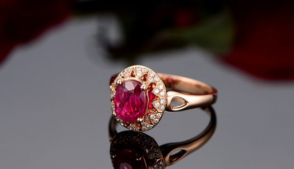 1.15ct Natural Red Ruby in 18K Gold Ring
