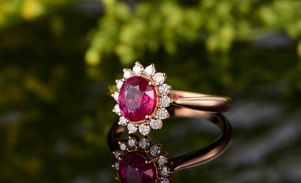 1.36ct Natural Red Ruby in 18K Gold Ring