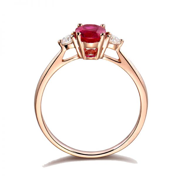 1.11ct Natural Red Ruby in 18K Gold Ring