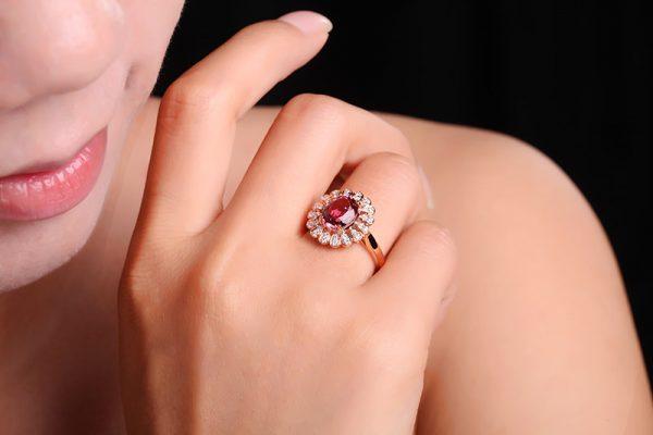 2.29ct Natural Pink Tourmaline in 18K Gold Ring