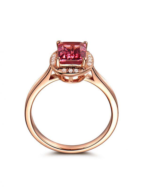 1.62ct Natural Pink Tourmaline in 18K Gold Ring