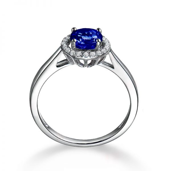 1.01ct Natural Blue Tanzanite in 18K Gold Ring