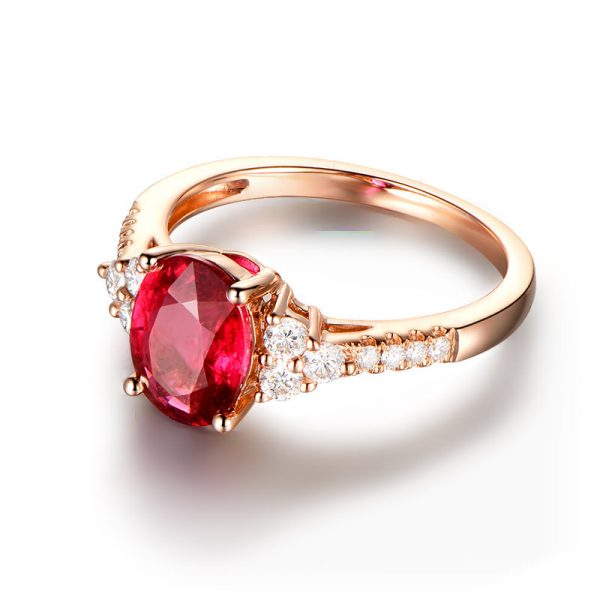 2.07ct Natural Red Tourmaline in 18K Gold Ring