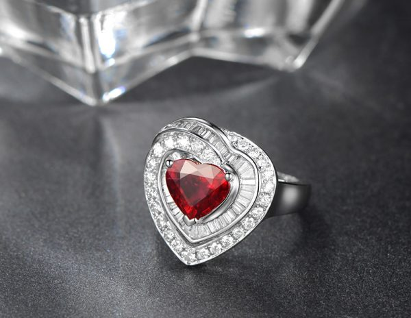 2.05ct Natural Red Ruby in 18K Gold Ring