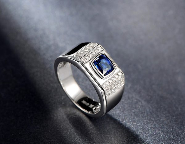 1.43ct Natural Blue Sapphire in 18K Gold Ring