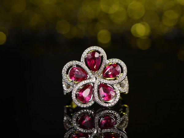 3.78ct Natural Red Ruby in 18K Gold Ring
