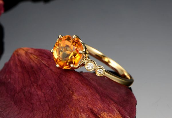 2.15ct Natural Yellow Citrine in 18K Gold Ring