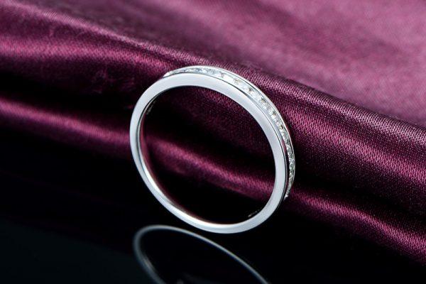 0.33ct Natural White Diamond in 18K Gold Ring