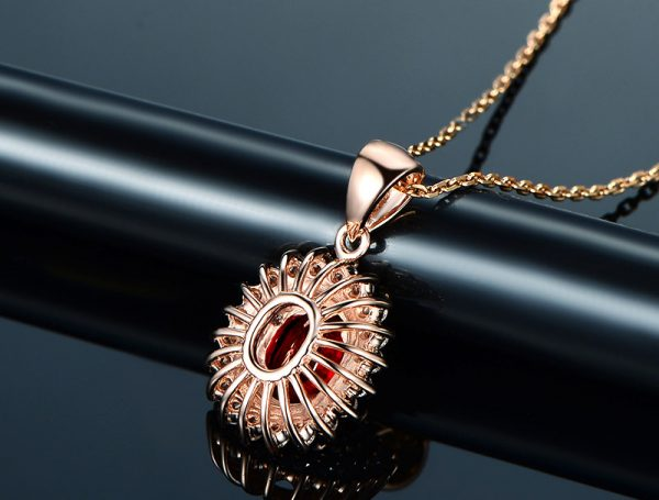 1.26ct Natural Red Ruby in 18K Gold Pendant