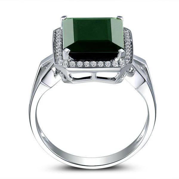 4.39ct Natural Blue Tourmaline in 18K Gold Ring