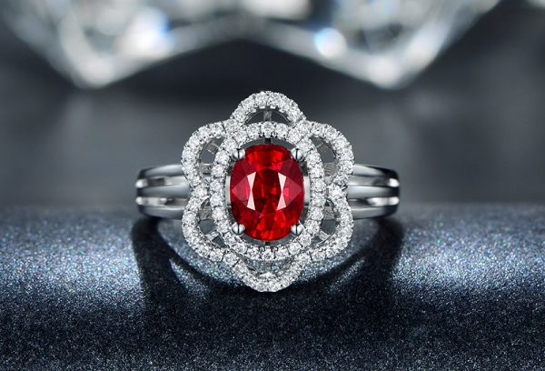 1.4ct Natural Red Ruby in 18K Gold Ring