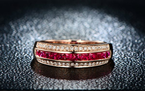 1.02ct Natural Blue Ruby in 18K Gold Ring
