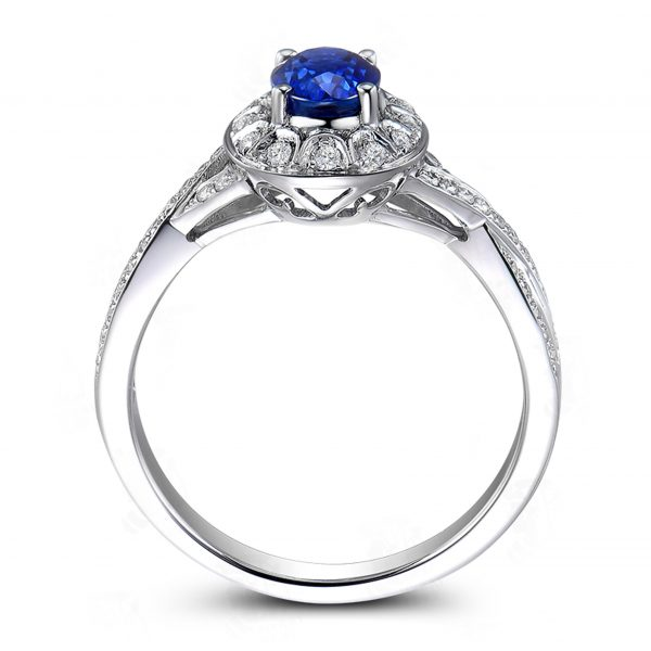 1.18ct Natural Blue Sapphire in 18K Gold Ring