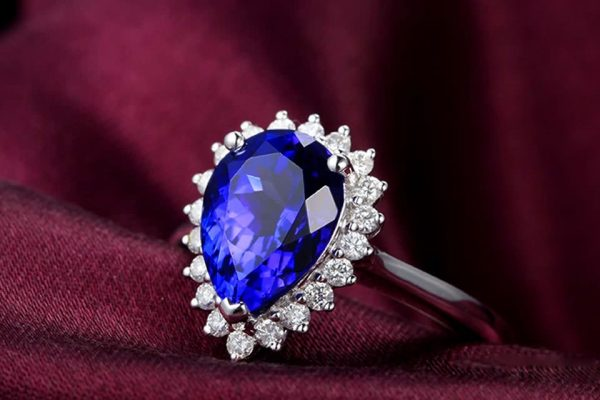 2.12ct Natural Blue Tanzanite in 18K Gold Ring