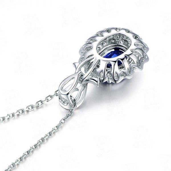1.3ct Natural Blue Sapphire in 18K Gold Pendant