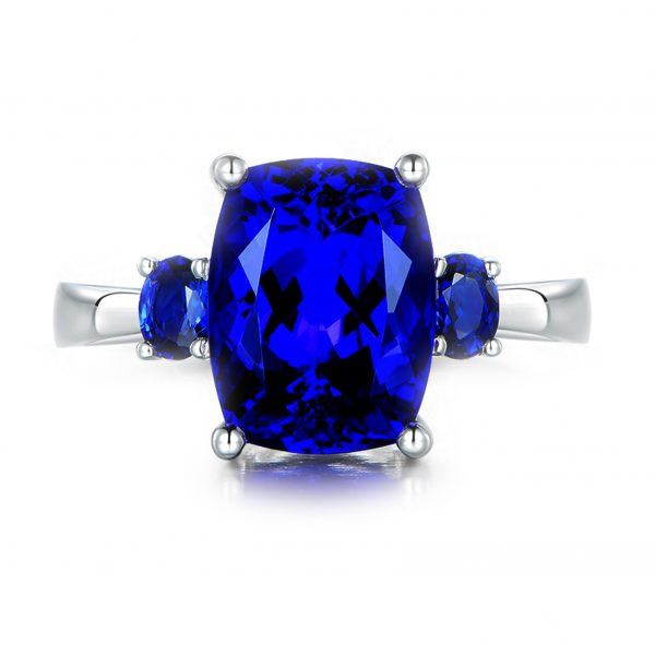 6.1ct Natural Blue Tanzanite in 18K Gold Ring