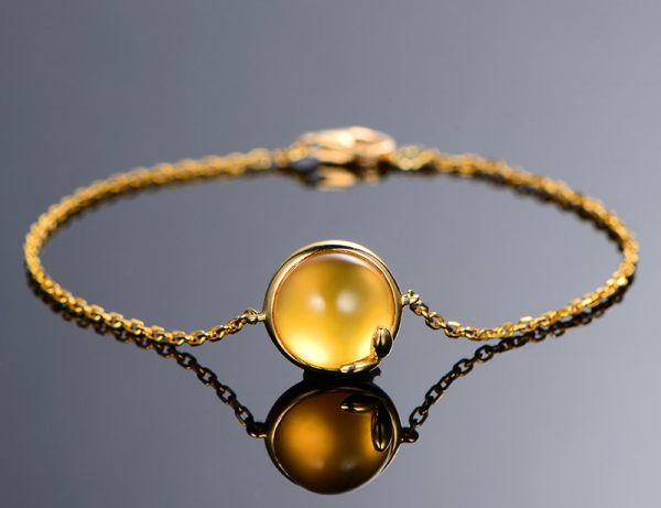 5.01ct Natural Yellow Citrine in 18K Gold Bracelet