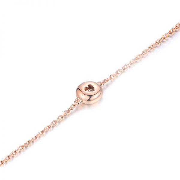 0.28ct Natural White Diamond in 18K Gold Bracelet