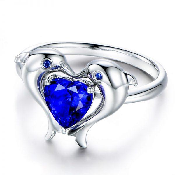 1.35ct Natural Blue Tanzanite in 18K Gold Ring