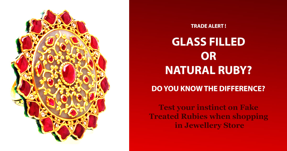Glass Filled Ruby or Not ? Quiz